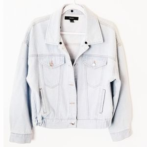 Stone washed forever 21 denim jean jacket
